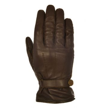 Oxford Holton Heritage Style Leather CE Motorcycle Motorbike Gloves Brown